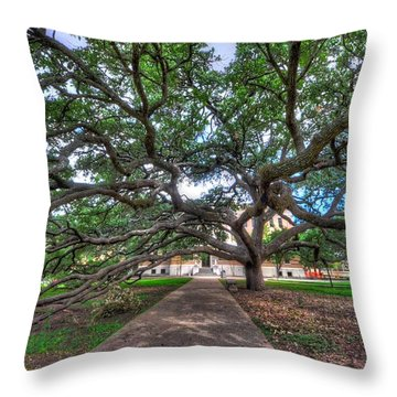 Under The Century Tree Throw Pillow