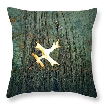 Under The Current Throw Pillow by Lisa Plymell