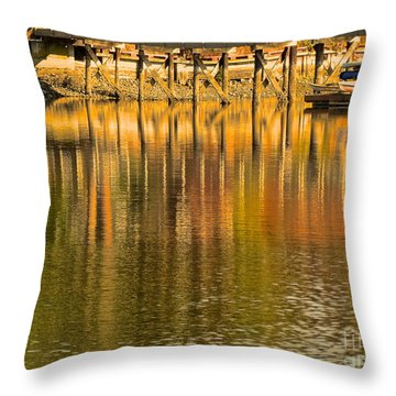 Under The Dock Throw Pillow