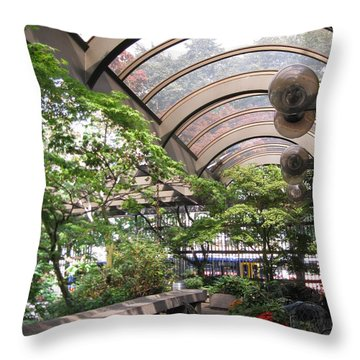 Under The Dome Throw Pillow by David Trotter