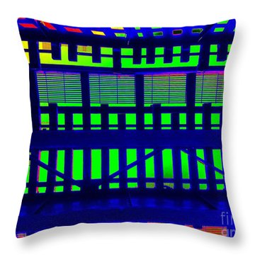 Under The El Train Throw Pillow by Ed Weidman