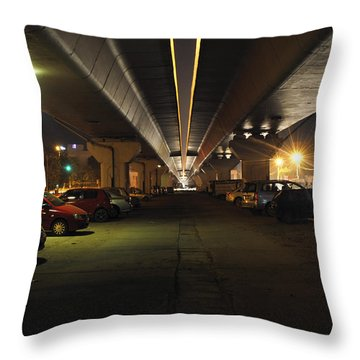 Under The Flyover  Throw Pillow by Sumit Mehndiratta