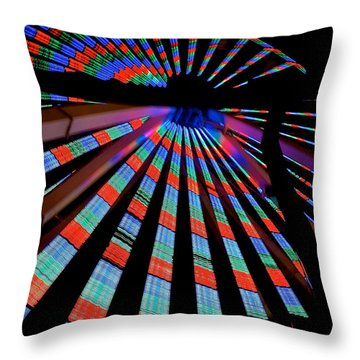 Under The Giant Wheel Throw Pillow by Mark Miller
