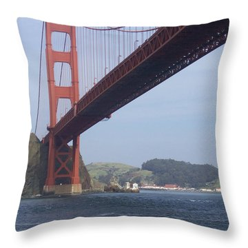 The Golden Gate Bridge San Francisco California Scenic Photography - Ai P. Nilson Throw Pillow