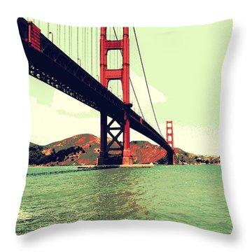 Under The Golden Gate Throw Pillow