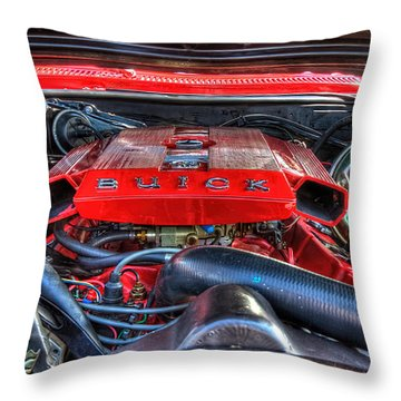 Under The Hood Throw Pillow by Amanda Stadther