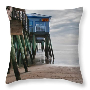 Under The Hurricane Raw Bar Throw Pillow by Guy Whiteley