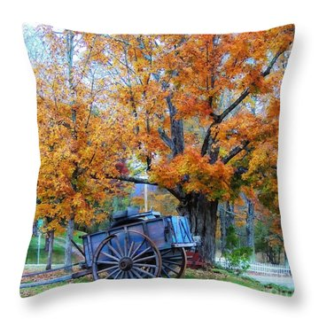 Under The Maple Tree Throw Pillow