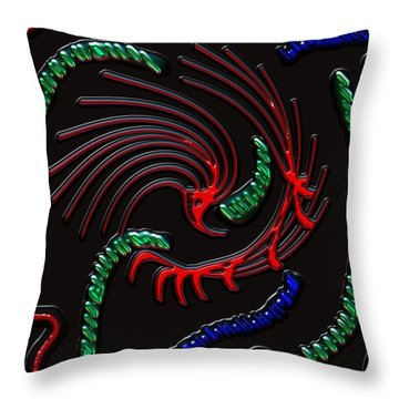 Under The Microscope Throw Pillow by Alec Drake