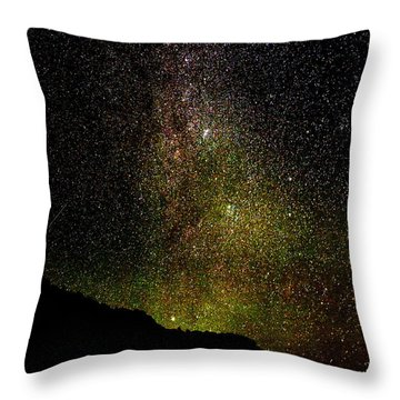 Under The Milky Way Throw Pillow by Greg Norrell