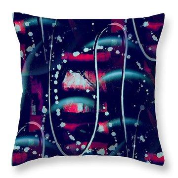 Under The Milky Way Tonight Throw Pillow by Yul Olaivar