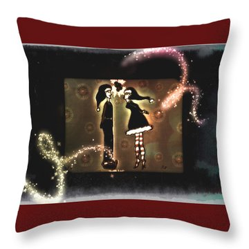 Under The Mistletoe Throw Pillow by Sherry Flaker