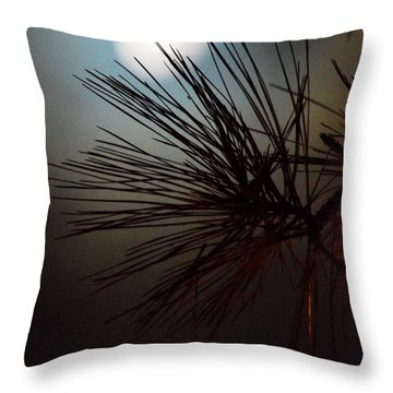 Under The Moon II Throw Pillow by Maria Urso