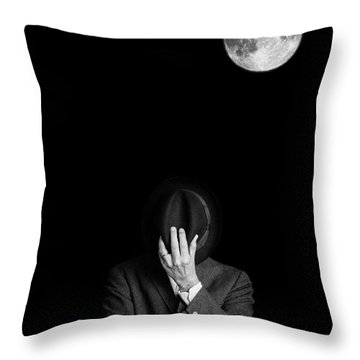 Under The Moonlight The Serious Moonlight Throw Pillow by Edward Fielding
