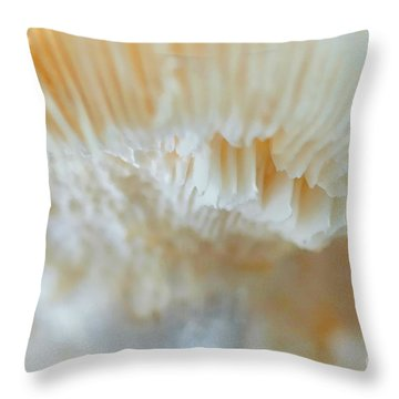 Throw Pillow featuring the photograph Under The Mushroom by Rudi Prott