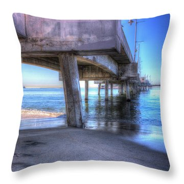 Under The Pier Throw Pillow by Heidi Smith