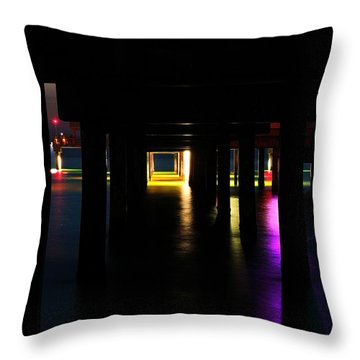 Throw Pillow featuring the photograph Under The Pier by Richard Zentner
