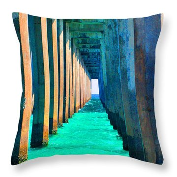 Under The Pier Too Throw Pillow
