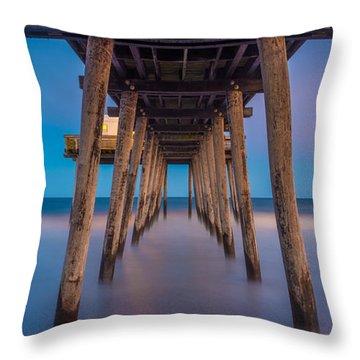 Under The Pier - Wide Version Throw Pillow