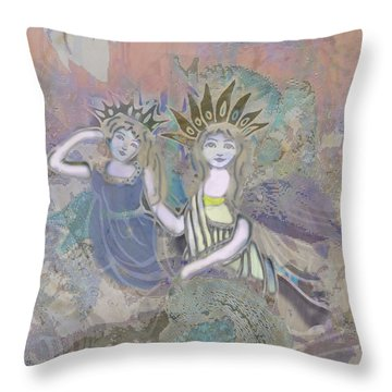Under The Sea Throw Pillow by Amelia Carrie