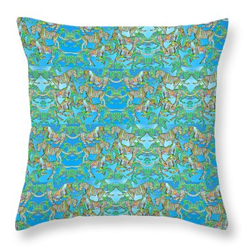Under The Sea Horses Throw Pillow