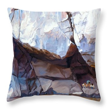 Under The Shadow Of The Almighty Throw Pillow