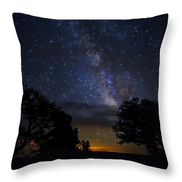 Under The Stars At The Grand Canyon  Throw Pillow