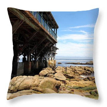Under The Steinbeck Plaza Overlooking Monterey Bay On Monterey Cannery Row California 5d25048 Throw Pillow