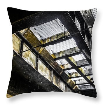 Steel Beams Throw Pillows