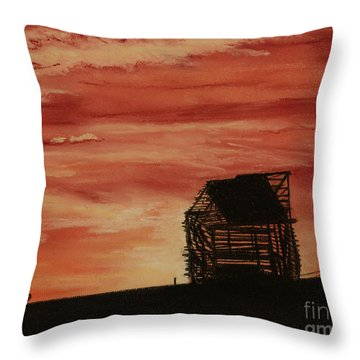 Throw Pillow featuring the painting Under The Sunset by Stanza Widen