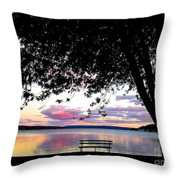 Under The Tree Throw Pillow by Margie Amberge