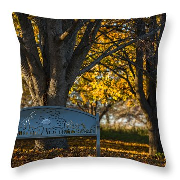 Under The Tree Throw Pillow by Sebastian Musial