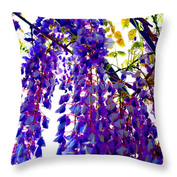 Under The Wisteria Throw Pillow by Alys Caviness-Gober