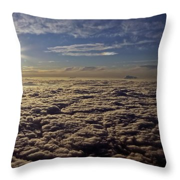 Throw Pillow featuring the photograph Undercast And Sun by Greg Reed