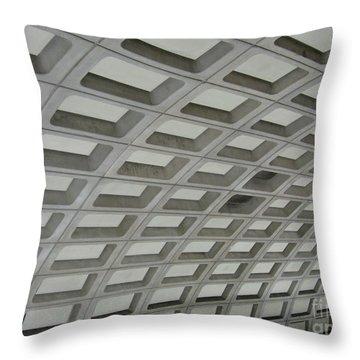 Underground. Washington Dc. Usa Throw Pillow