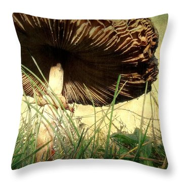 Underneath The Mushroom Throw Pillow