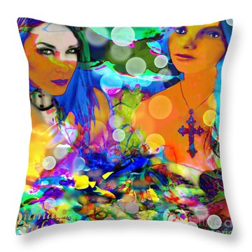 Throw Pillow featuring the digital art Undersea Dreams by Diana Riukas