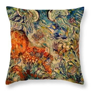 Undersea Friends Throw Pillow