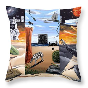 Throw Pillow featuring the digital art Understanding Everything Full by Ryan Demaree