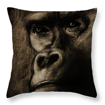 Throw Pillow featuring the drawing Understanding by Michael Cross
