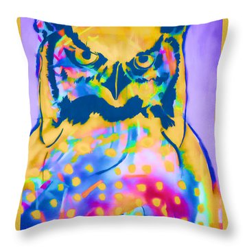 Understated Owl Throw Pillow by Carol Leigh