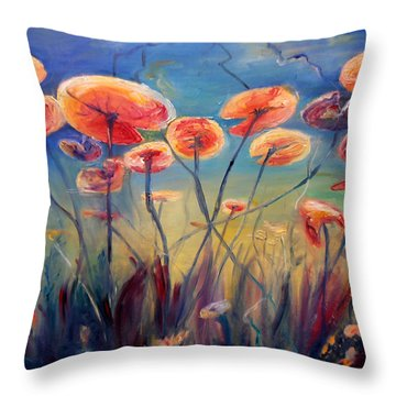 Underwater Ballet Throw Pillow by Art by Kar