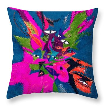 Underwater Feline Throw Pillow