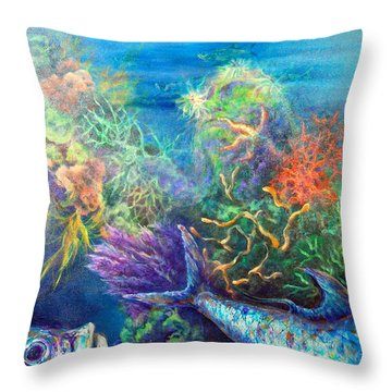 Jesus Reef  Throw Pillow