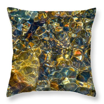Underwater Jewels Throw Pillow by Rita Mueller
