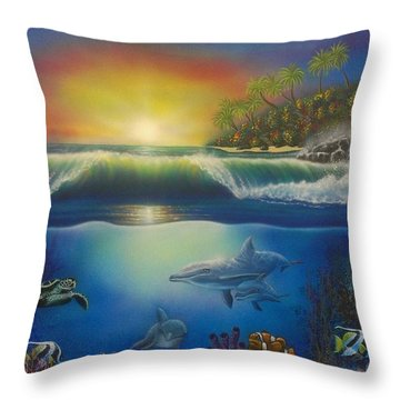 Underwater Paradise Throw Pillow