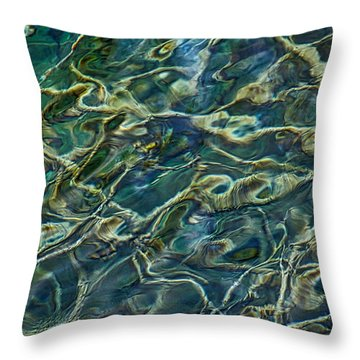 Underwater Roots Throw Pillow by Stuart Litoff