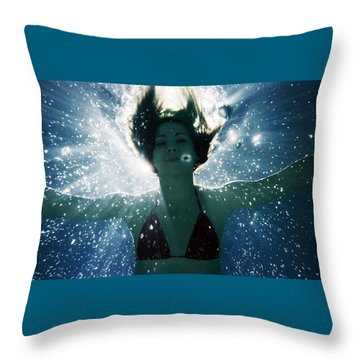 Underwater Self-portrait Throw Pillow