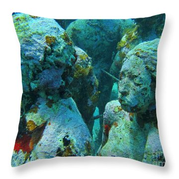 Underwater Tourists Throw Pillow by John Malone