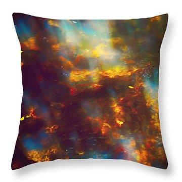 Underwater Treasure Throw Pillow by Jenny Rainbow
